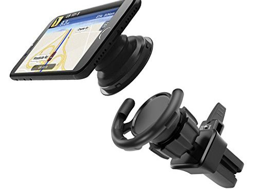 Car Mount for Pop Socket, Besiva Pop Out Phone Stand Air Vent Holder, 360°Rotation Adjustable Switch Lock, Support iPhone Android