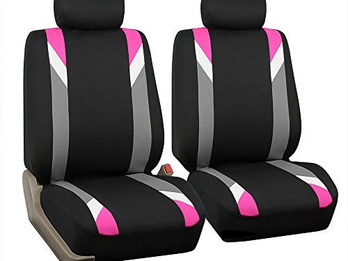 FH Group FB033PINK102 Bucket Seat Cover Modernistic Airbag Compatible Set of 2 Pink
