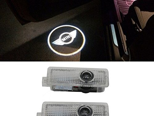 Grolish LED Courtesy Lamp Car Door Welcome Lights 12V Projector Shadow car Styling For Mini Cooper