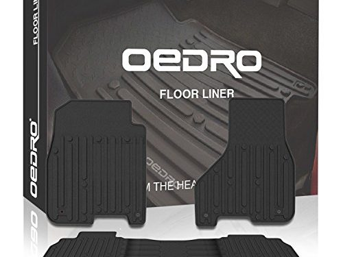 oEdRo Ram Floor Mats Liners Crew Cab OEM – Unique TPE All-Weather Guard Includes 1st & 2nd Front Row and Rear for 2013-2017 Dodge Ram 1500-5500 Floor Liner Set