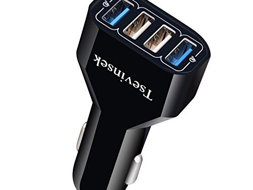 Tsevinsek 48W Quick Charge 3.0 Car Charger Rapid 4 Port Fast USB Car Charger Adapter for iPhone 7/7Plus/6/6S/8/X, iPad, Samsung Galaxy S8/S8 Plus/S9/SP Plus, Nexus, and More Cell Phones