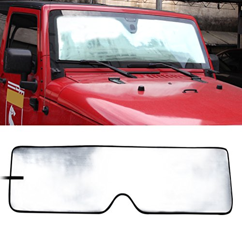 Front Windshield Sunshade Sun shade for 2007-2017 Jeep