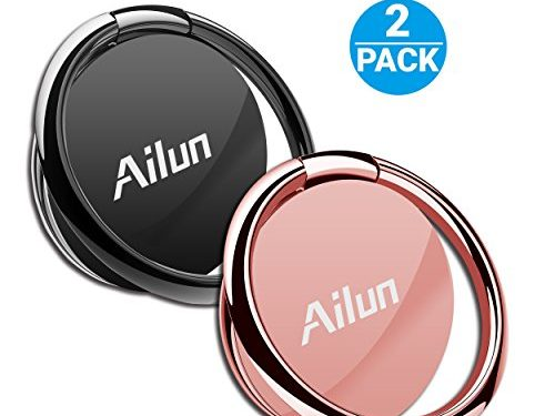 Cellphone Ring Shaped Stand Holder,by Ailun2 Pack, Universal Cellphone Stand for iPhone X/8/7/6/6s Plus,Galaxy S9/S9+,s8/s8+ S7/S7 Edge,S6/S6 Edge+ and moreRosegoldRoseblack