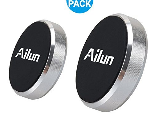 Mini Car Phone Mount,Magnet Key Holder,by Ailun,2PackStick-on Dashboard Magnetic Car Mount Holder,for iPhone X/8/8Plus,7/6/6s Plus,Galaxy S9/S9+,S7/S6 & more phones and chargersSilver