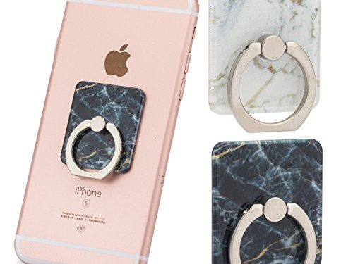 Two Pack Marble Ring Holder for Phone Grip | Car Mount | Stand/Holder | Kickstand | for iPhone X/8/8 plus/7/7 Plus/6S/6S Plus/Galaxy S9 plus and all other models Black and WhiteGold
