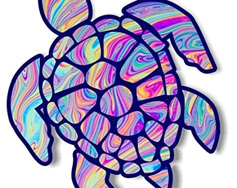 vinyl junkie graphics 3 inch Sea Turtle Sticker for Laptops CupsTumblers Cars and Trucks any smooth surface tye dye