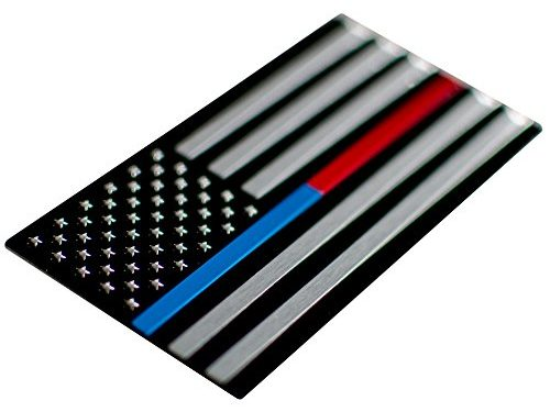 Thin Blue/Red Line Aluminum BLUE/RED Line | Stars on Left