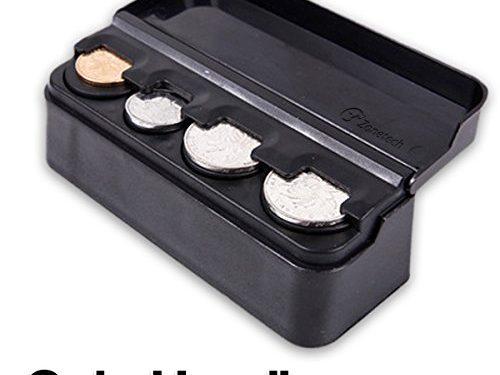 Zone Tech Coin Case Storage Box – Classic Black Premium Plastic Coin Case Storage Box Holder Container Organizer Quality
