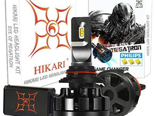 HIKARI Ultra LED Headlight Bulbs Conversion Kit -HB4 9006,Philips Lumileds 12000lm 6K Cool White,2 Yr Warranty