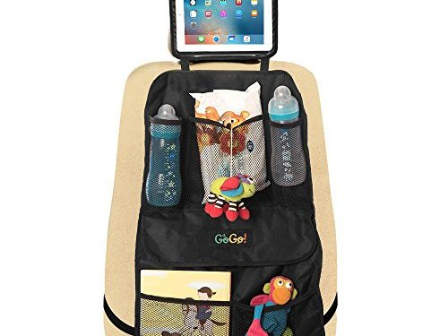 Car Backseat Organizer for Kids With Tablet Holder- Multi Purpose Back of Seat Protector Keeps Your Vehicle Neat– Plenty Storage Pockets – Must Have Travel Accessory