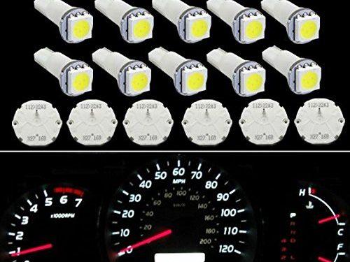 Partsam 6 Pcs GM GMC Stepper Motor X27.168 Speedometer Cluster Repair Kit + 10pcs T5 37 74 1-5050-SMD White LED 6 X 27.168 stepper motor+10T5 White LED