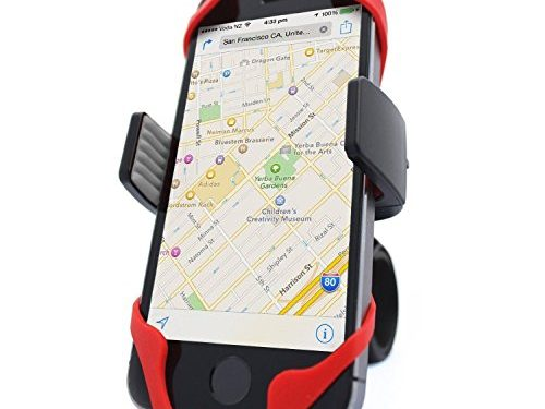 Vibrelli Universal Bike Phone Mount – Fits iPhone X, 8, 8 Plus, 7, 7 Plus, 6, 6 Plus and Android devices