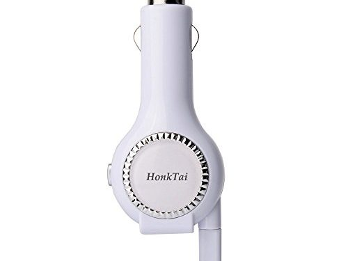 HonkTai Car Charger Lightning Tangle-free Retractable Cable USB Car Charger For Apple iPhone X/iPhone8/8Plus/iPhone 7Plus/iPhone7 iPhone 6s/6s Plus iPhone 6Plus iPhone 5 5c 5s iPad Air 2 iPodWhite