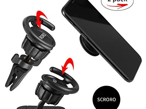 Car Mount for Pop Socket,SCRORO Air Vent Clip Cell Phone Holder for Phone Popsocket and Grips, Car Dashboard Desk Wall Mount Sticker for IPhone X 8 Plus 7 Plus 6s 6 5s 5 4s 4 Samsung