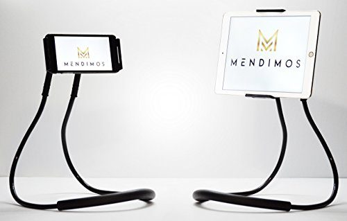 MENDIMOS Lazy Cell Phone Holder WITH Universal Tablet Holder, DIY 360 Degree Rotating Mount, Mobile Phone Stand, 3 in 1 Phones, Tablets, E-Books Gooseneck Tablet Stand