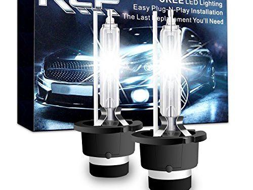 D4S6 – RCP – A Pair D4S/D4R 6000K Xenon HID Replacement Bulb Diamond White Metal Stents Base 12V Car Headlight Lamps Head Lights 35W