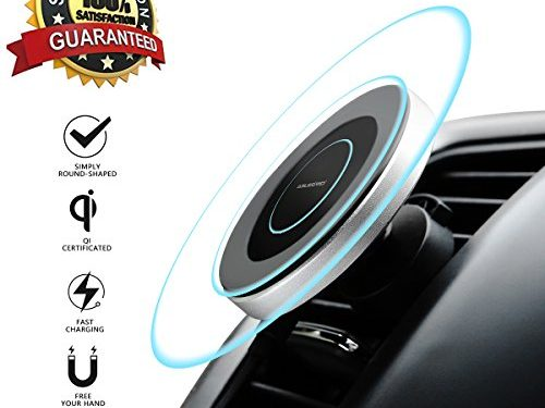 Wireless Car Charger, ABLEGRID Magnetic Fast Charging Car Wireless Charger Qi Certificated Car Charger Wireless For iPhone X/8/8 Plus, Samsung Galaxy NoteS9 8/S 8/S 8+/S 7/S 6 More Black