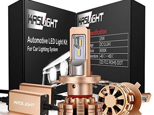 KASLIGHT DOT Approved HB2 H4 9003 Led Headlight Bulbs 6000k H4 Led Bulb Conversion Kit W/ Adjustable Beam, 3 Year Warranty,IP68,H4 Led Headlight Bulb Led H4 Hi/Lo Headlight, Fire-proof -1 Set