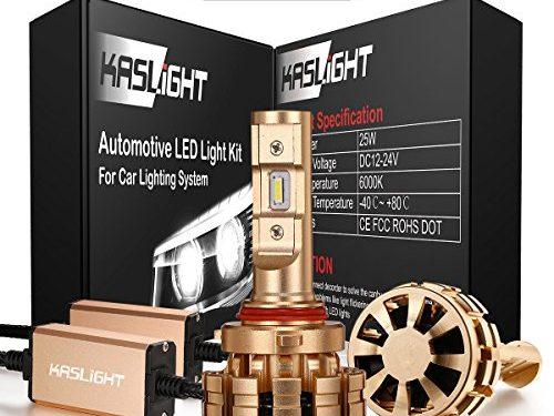 DOT Approved 9005 Led Headlight Bulb, 3 Year Warranty IP68 KASLIGHT HB3 Led Headlight Bulb 9005 Led Bulb Headlight Conversion Kit 6000K, Fireproof-1 Set