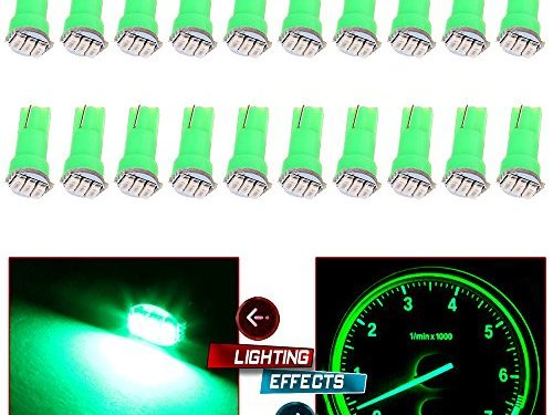 20x T5 17 74 73 Instrument Gauge Cluster Dash LED Bulbs Indicator Light Green