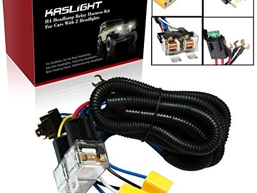 1Set 2 Headlight Harness H4 Headlight Relay Harness H6054 H4 Relay Harness Toyota Pickup Headlights H4 Wiring Harness Headlight Relay Kit For Toyota 95-97 Tacoma 88-95 Pickup Fix Dual Ground Problem