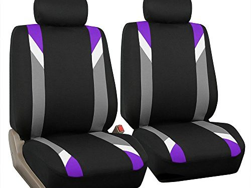 FH Group FB033PURPLE102 Bucket Seat Cover Modernistic Airbag Compatible Set of 2 Purple