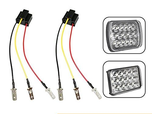 KASLIGHT H4 Harness, Pair H4 Socket H4 9003 hb2 Harness H4 Wiring Harness 4×6 Led Headlights H4 to 3 Pin adapter h4 headlight harness, Fix Un-standard H4 Headlamps Pins