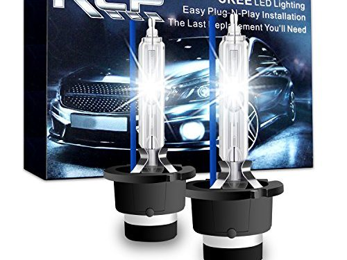 A Pair D4S/D4R 8000K Xenon HID Replacement Bulb Ice Blue Metal Stents Base 12V Car Headlight Lamps Head Lights 35W – RCP – D4S8