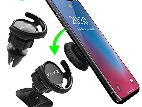 Car Mount For Pop Sockets 2-Pack YLYZ Pop Out Clip Phone Mount in Air Vent & 3M Adhesive Dash Mount for Clean Flat Surfaces, 360 Degree Rotation, Easier GPS Navigation and Call for All Phone & More