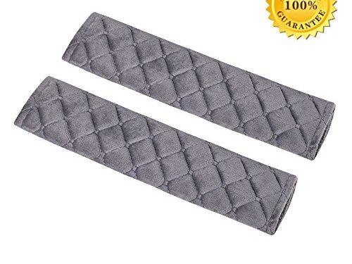 Safety Belt Cover,Car Belt Protector,Carsemoo Seat Belt Shoulder Strap Cover Harness Pad For Car/Bag,Soft Comfort Helps Protect You Neck And Shoulder From The Seatbelt Rubbing/Lrritation Gray 2-Pack