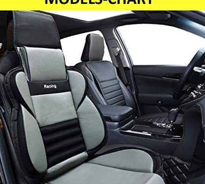 Big Ant Car Seat Covers, Breathable Car Interior Seat Cover Cushion Pad for Racing Sports Auto Supplies with PU Leather – Fit Most Car, Truck, Suv, or VanBlack & Gray