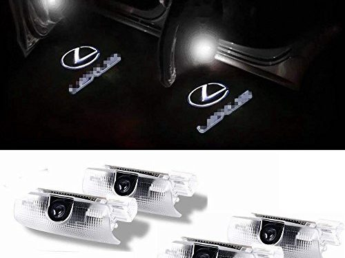 Car Door LED Light Projector Ghost Shadow Lights Welcome Lamp for Lexus RX/ES/GX/LS/LX/IS Series 4 Pack