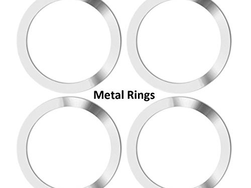 Metal Ring for Neotrix Wireless Qi Standard Mobile Cell Phone Air Vent Magnet Car Mount Holder Cradle and Charger4 Pieces