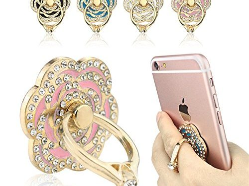 New Phone Ring Holder 4 Packs, FOMTOR Universal Phone Finger Ring Stand Holder, 360 Rotation 3D Aluminium Ring Grip for iPhone 5 6 6S 6Plus iPhone 7 7Plus,Galaxy and Almost All Phones