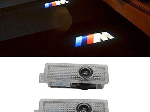 Grolish 2 Piece Car Door LED Lighting Welcome Lights Shadow Projector for BMW