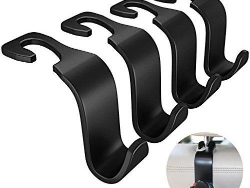Advgears 4 Pack Car Headrest Hanger Hooks Car Seat Hook Back Vehicle Universal Car Organizer for Groceries Bag Handbag