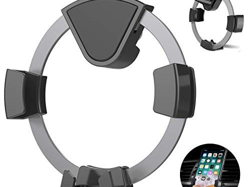 Dark Grey – Car Phone Mount, Kissral Air Vent Auto-Locking Car Phone Holder with Gravity Sensor Design for 4-6 inches Device Such as iPhone X 8/7 7 Plus 6s Plus 6s 6 SE Samsung Galaxy S8 Huawei