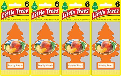 Little Trees Peachy Peach Air Freshener, Pack of 24