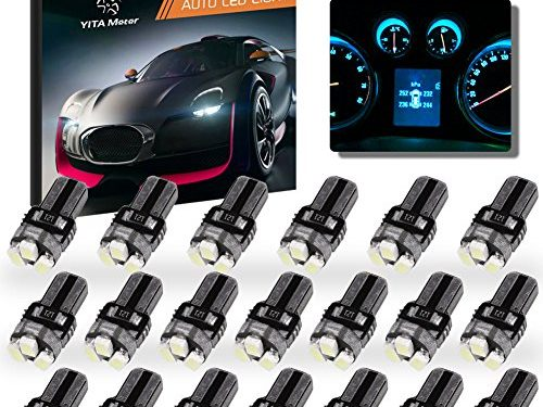 YITAMOTOR 20x T5 3-SMD Instrument Panel Cluster Dash Ice Blue LED Bulb Light Lamp 74 70 37 17