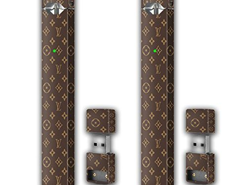 Brown LV – 2 Pack – Juul Skin Wrap Vinyl Sticker Decal | JUUL Charger Skin & Prep Pad