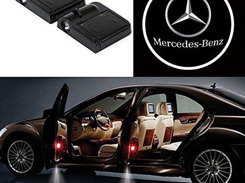 Bearfire 2 Pcs Wireless Car Door Led Welcome Laser Projector Logo Light Ghost Shadow Light Lamp Logos benz