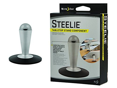 Nite Ize Original Steelie Tabletop Stand – Additional Pedestal Stand for Steelie Magnetic Phone + Tablet Mounting Systems