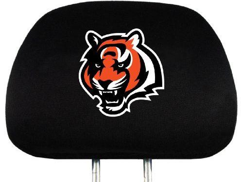 Team ProMark NFL Cincinnati Bengals Head Rest Covers, 2-Pack