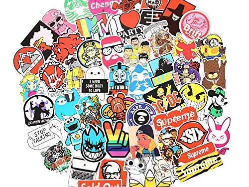 10 Series Stickers Pack 100pcs Stickers Variety Vinyl Car Sticker Motorcycle Bicycle Luggage Decal Graffiti Patches Skateboard Stickers for Laptop Stickers For Kid And Adult Series J