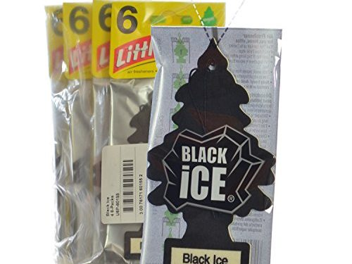 Little Trees Black Ice Air Freshener, Pack of 24