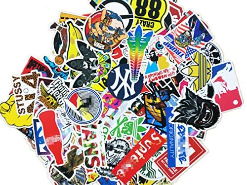 section – 100 Pieces Waterproof Vinyl Stickers for Personalize Laptop, Car, Helmet, Skateboard, Luggage Graffiti Decals I