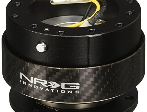 NRG Gen 2.0 Steering Wheel Quick Release Kit Black Body with Carbon Fiber Ring Part: SRK-200CF Free Standard Shipping