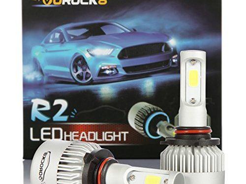 VoRock8 R2 COB 9005 HB3 8000LM LED Headlight Conversion Kit, High Beam Headlamp Hi Beam Bright Headlights, HID or Halogen Head Light Replacement, 6500K Xenon White, 1 Pair- 1 Year Warranty