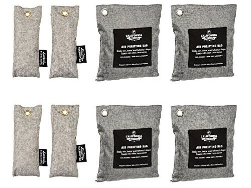 Charcoal Deodorizer Gym Bag & Shoe Odor Neutralizer Pack 4X 200g & 4X 50g, 100% Natural Chemical-Free, Bamboo Charcoal Air Purifying Bag, Unscented Deodorizer Bags – California Home Goods 8 Pack