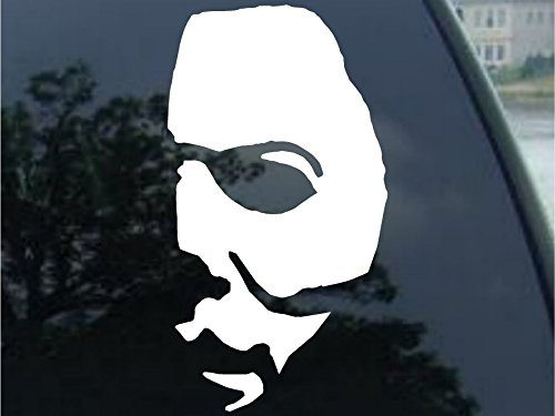 Crawford Graphix Michael Myers Creepy Half Face Decal Scary Horror Movies Awesome Fun Cool Creepy Halloween Sticker 4″ White
